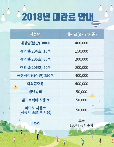 경남종합사회복지과노 2018년 대관료 안내